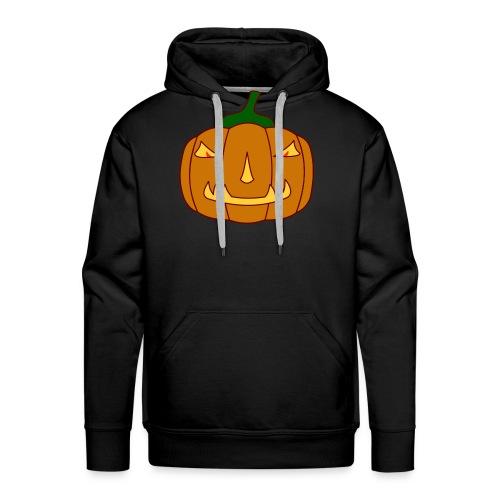 Halloween Kürbis mit Gruselgesicht - Männer Premium Hoodie