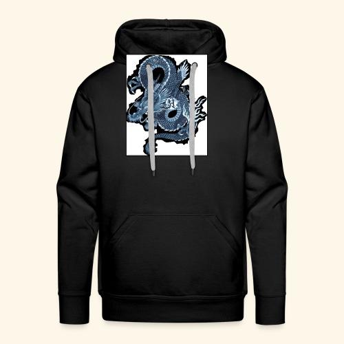 dragon bleu - Sudadera con capucha premium para hombre