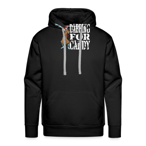 Funny Halloween Zombie Girl Dabbing For Candy. Trick or Treat Candy Lover Gift - Men's Premium Hoodie