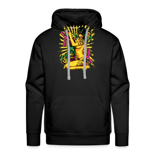 skateboard chick - Mannen Premium hoodie