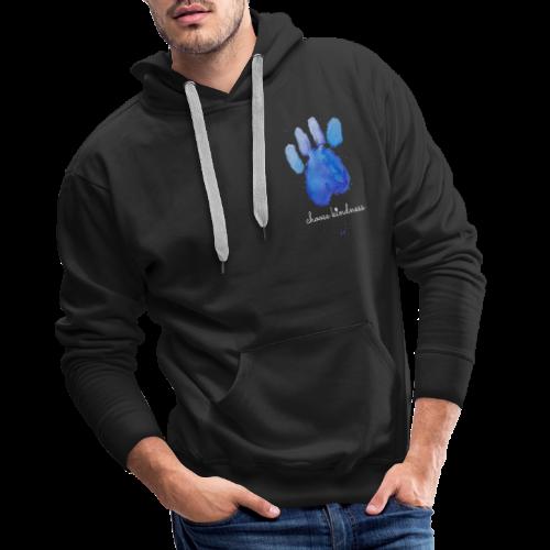 Tierfreund Choose Kindness Hundepfote Wasserfarben - Männer Premium Hoodie