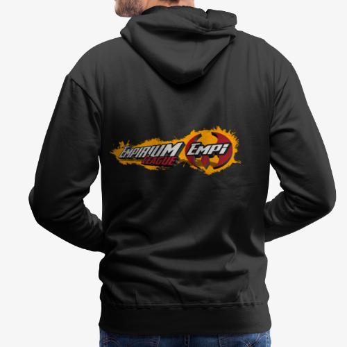 Logo EMPi fond jaune - Sweat-shirt à capuche Premium pour hommes