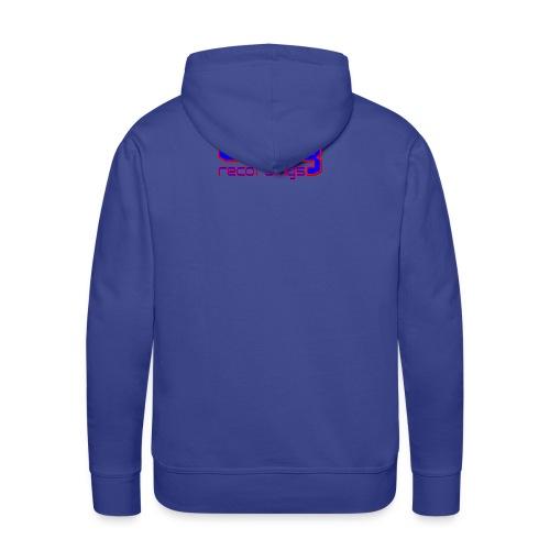 borg txt logo blue - Men's Premium Hoodie