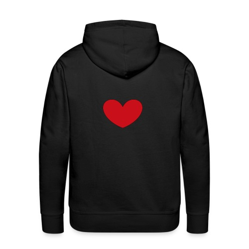 hjerte png - Herre Premium hættetrøje