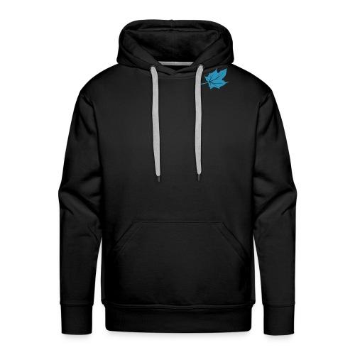 logo blatt only 1c - Männer Premium Hoodie