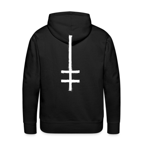 symbol cross upside down 1 - Männer Premium Hoodie