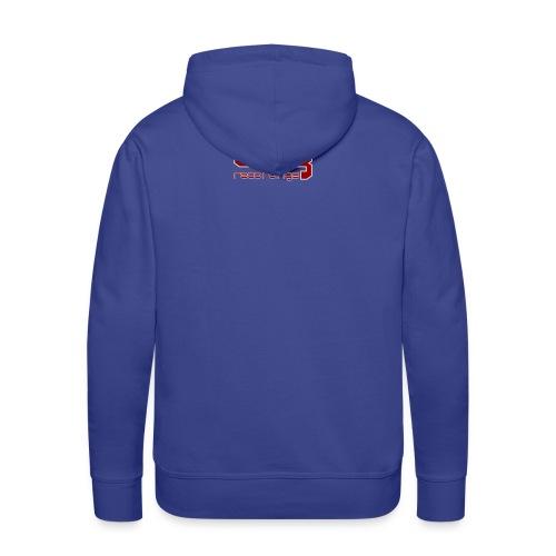 borg txt logo red - Men's Premium Hoodie
