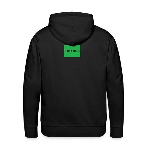 solid green background - Premiumluvtröja herr