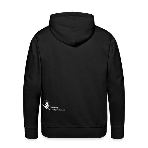 logo tannbergtelemarker weiss - Männer Premium Hoodie
