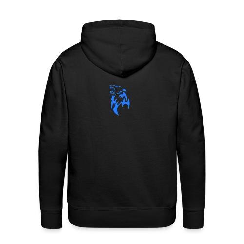 wolf blau png - Männer Premium Hoodie