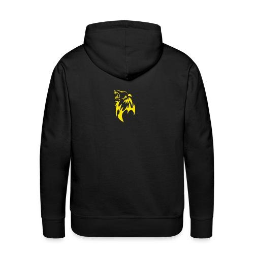 wolf gelb png - Männer Premium Hoodie