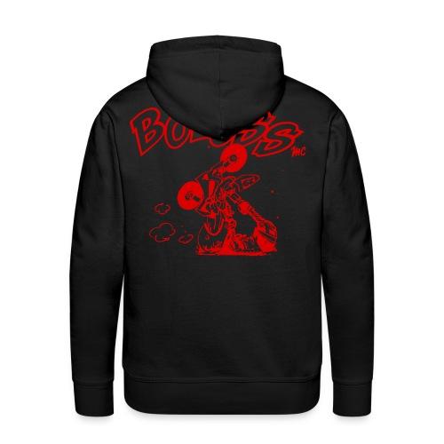 Logo Rouge - Sweat-shirt à capuche Premium pour hommes