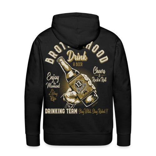 Hermandad y cerveza - Sudadera con capucha premium para hombre