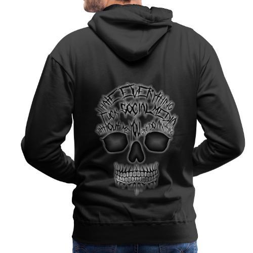 Fuck social media - Sweat-shirt à capuche Premium pour hommes
