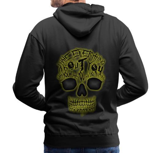 Hate everything - Sweat-shirt à capuche Premium pour hommes