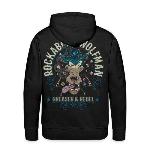 Rockabilly Wolfman - Sudadera con capucha premium para hombre