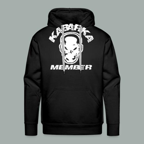 KABARKA MEMBER WHITE png - Sweat-shirt à capuche Premium pour hommes