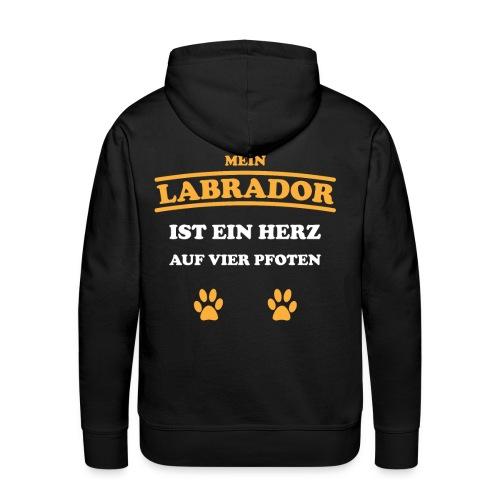 Labrador Hund Pfoten - Männer Premium Hoodie