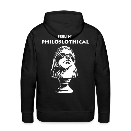 Philosphie Philosoph Faultier - Männer Premium Hoodie