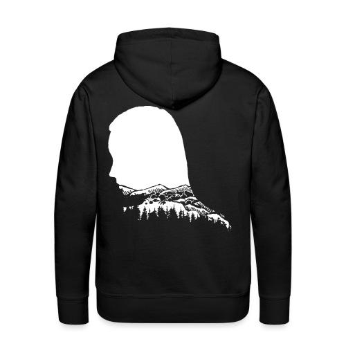 Berge Berg Gebirge Wandern Frau Wanderer - Männer Premium Hoodie