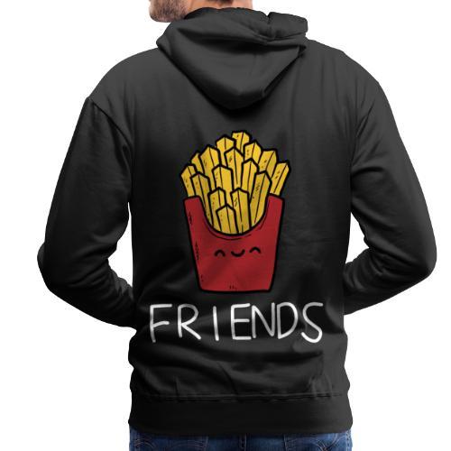 Burger und Pommes Best Friends Partnerlook - Männer Premium Hoodie