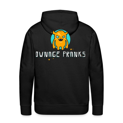 ownagepranks logo orange - Men's Premium Hoodie