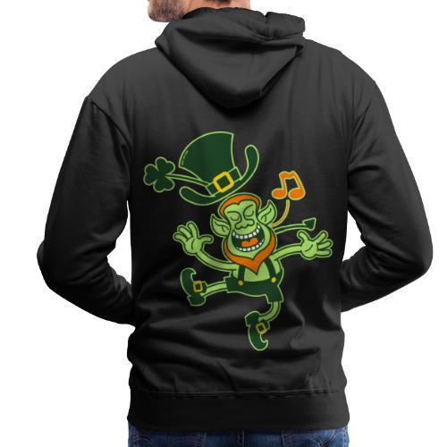 Leprechaun Dancing and Singing - Men's Premium Hoodie