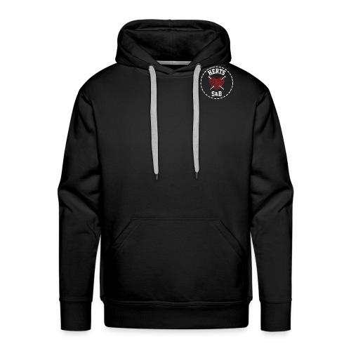 StitchAndBitchBackLogo_Wh - Men's Premium Hoodie