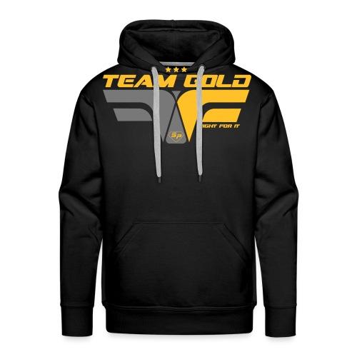 ffi_gold_face - Sweat-shirt à capuche Premium pour hommes