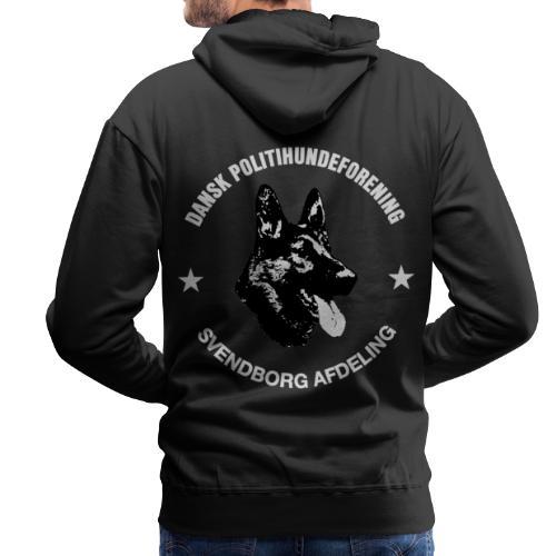 Svendborg PH hvid skrift - Herre Premium hættetrøje