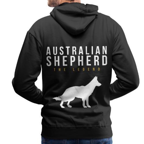 Australian Shepherd Legendär Dog Hund - Männer Premium Hoodie