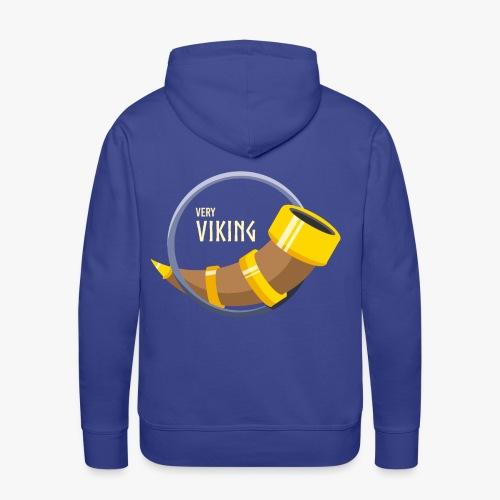 Very Viking Horn - Herre Premium hættetrøje