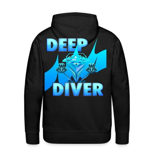 Deep Diver, Ocean Diamond. - Men's Premium Hoodie