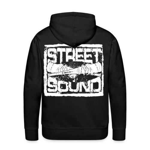 Street Sound Logo Weiß - Männer Premium Hoodie