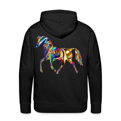 Psychedelic Horse 9 - Sweat-shirt à capuche Premium pour hommes