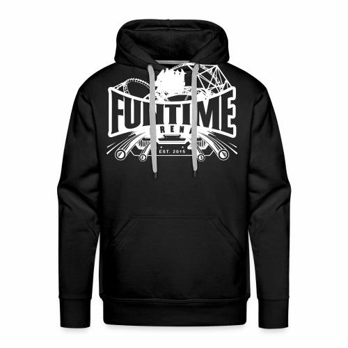 Schiene_Weiß - Männer Premium Hoodie