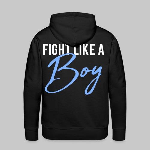 2reborn Fight like a Boy Junge Menpower Hero Gym S - Männer Premium Hoodie