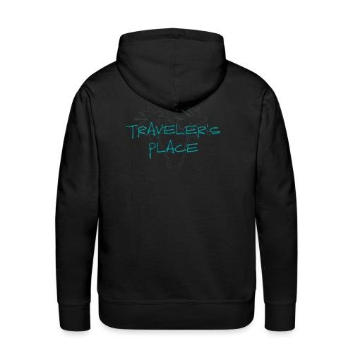 Cool Traveler's Place Palm Design - Männer Premium Hoodie