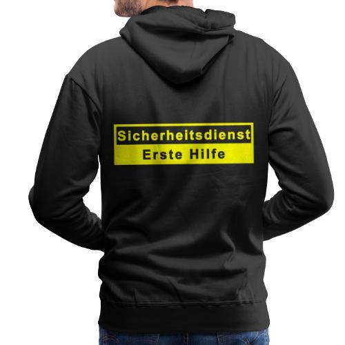 Sicherheitsdienst & Erste Hilfe, gelb - Männer Premium Hoodie