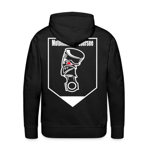 Motomaniac's Weißes Design - Männer Premium Hoodie
