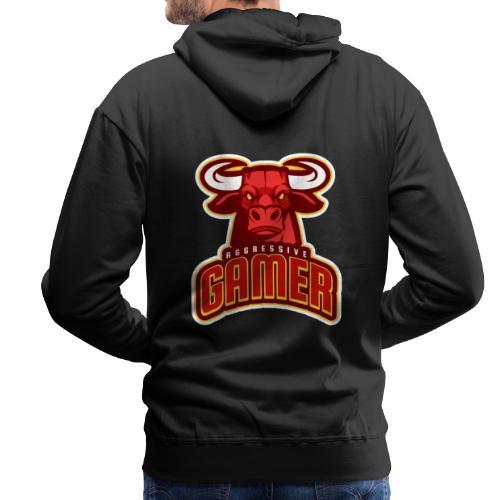 Agressive Gamer - Sweat-shirt à capuche Premium pour hommes