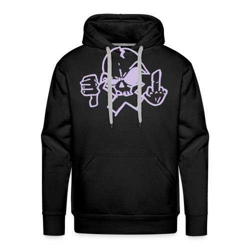 croix crane - Sweat-shirt à capuche Premium pour hommes