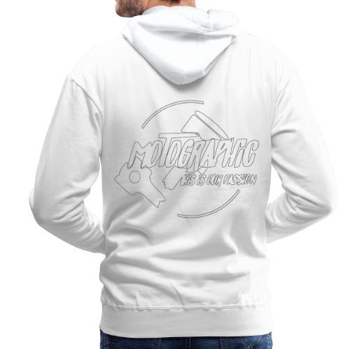 Mannen Premium hoodie - wit,witte doek,witten,witbier,Witte Huis,witte wijn,logopedist,with full force,logo,wit konijntje,Wit-Rusland