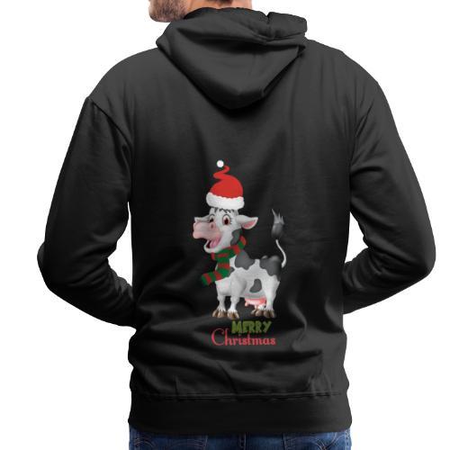 Merry Christmas - cow - Premiumluvtröja herr
