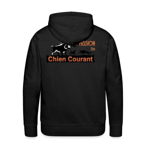 Passion DU chien courant - Sweat-shirt à capuche Premium pour hommes