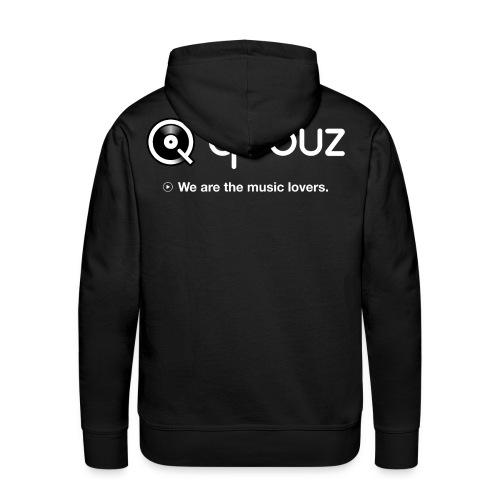 Qobuz Full - Sweat-shirt à capuche Premium pour hommes