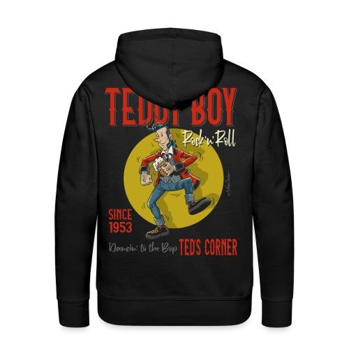 Teddy Boy Dancin 'to the Bop - Sudadera con capucha premium para hombre