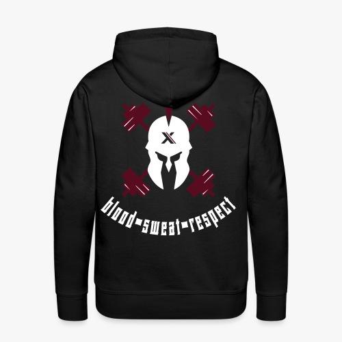 blood sweat respect - Männer Premium Hoodie