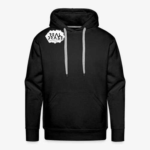 RealDraze logo weiß mit schwarzer schrift png - Männer Premium Hoodie