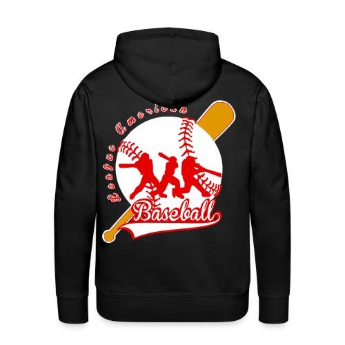 baseball league american - Sweat-shirt à capuche Premium pour hommes